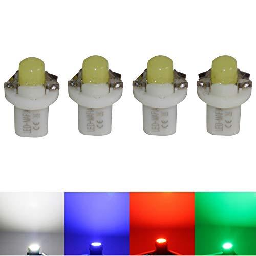 LED-Mafia Lot de 4 éclairages halogènes pour tableau de bord - Blanc, bleu, rouge, cockpit l (bleu)