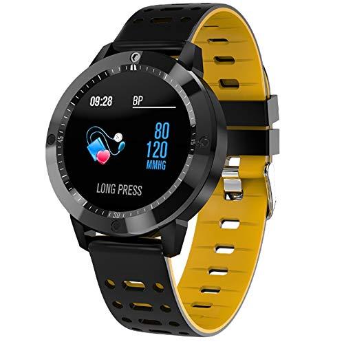 Alvnd Bluetooth Smart Armband met hartslagfrequentie, bloeddruk, zuurstof, fitnesstracker, informatieherinnering intelligent waterdicht horloge, A