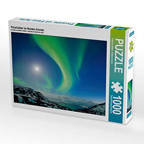 CALVENDO Puzzle Polarlichter im Norden Islands 1000 Teile Lege-Größe 64 x 48 cm Foto-Puzzle Bild von Edition Arctic