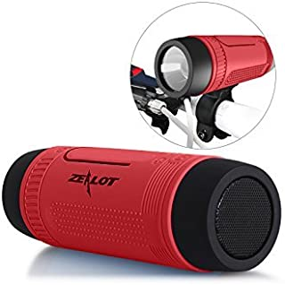 Bluetooth Bicycle Speaker Zealot S1 4000mAh Power Bank Waterproof Speakers with Full Outdoor Accessories(Bike Mount, Carab...