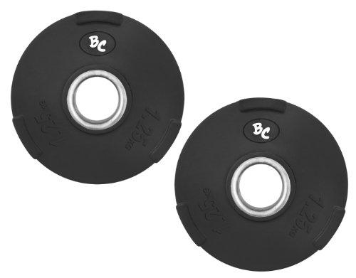 Bad Company OLY. Gummi-Gripper 2,5Kg (2x1,25) Hantelscheiben Hantel Gewichte Hanteln 50/51mm
