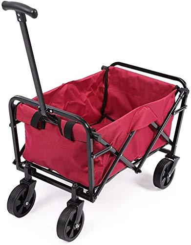 Carro plegable de la tienda de comestibles, Trolley de aluminio Jardín pesado...
