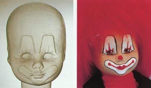 gl Puppengesicht Clown/Puppenmasken aus PET-Kunststoff für Schweizer Stoffpuppen