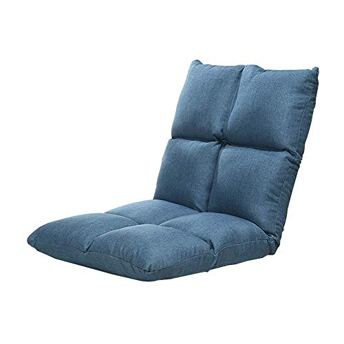 yangsl Sofá perezoso, sillón plegable para el suelo, sillón para el suelo, sillón reclinable con respaldo transpirable y asiento ajustable para el suelo, para adultos, niños, tumbonas, silla perezosa