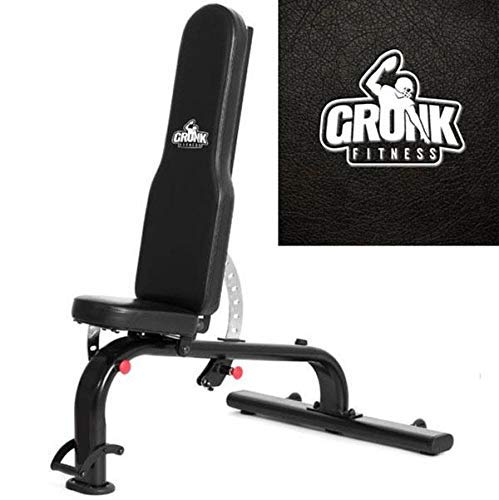 Gronk Fitness HD FID Bench | Adjustable Workout Bench | Adjustable Workout Bench for Home or Commercial Gym | Weight Lifting Bench | Adjustable Incline Bench