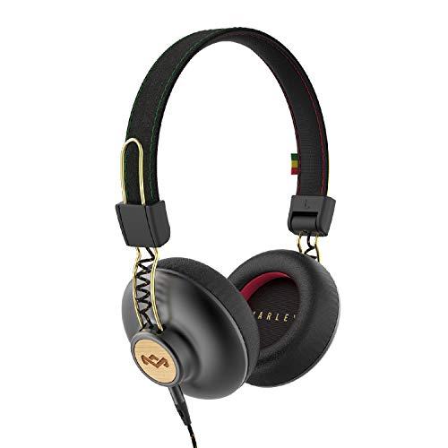 House of Marley Positive Vibration 2 Kopfhörer, Geräuschisolierung, Premium Sound, Mikrofon, nachhaltige Materialien, recycelbare Verpackung, unterstützt One Tree Global Wiederaufforstung - Rasta