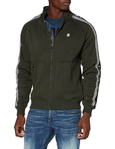 G-STAR RAW Herren Cardigan Sweater Denim Stripe Jacket, Asfalt A971-995, Medium