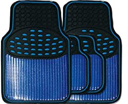 Pamper your car: Protect your car from dirt and debris with these all-round season mats. By using these mats you will prolong the life of your vehicle carpet, whilst transforming the interiors. Polymer Protection: The vinyl material has a sleek chrom...