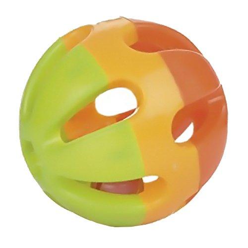 Beeztees Balle pour Rongeur Orange/Vert 7,5 cm