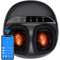 Renpho Shiatsu Foot Massager with Full Cover Heat, APP Remote, Deep Kneading, Squeezing