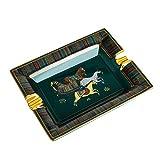 WYDA Ceniceros de cerámica cenicero de cigarrillos, ceniceros cuadrados retro, ceniceros para ahumadores de escritorio, cenicero de oficina para cigarrillos (color verde)
