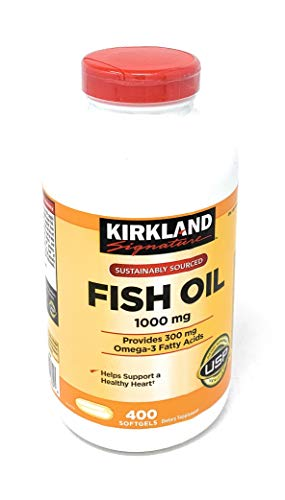 Kirkland Signature Fish Oil Concentrate with Omega3 Fatty Acids 800 Softgels 1000mg