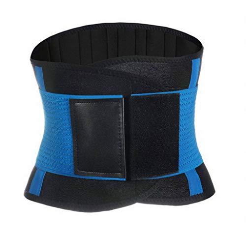 Bigood Sport Support Ceinture Maintien de la Taille et de l'Abdomen Élastique Bleu 23 * 130cm