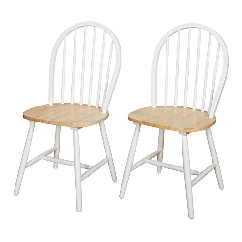 Target Marketing Systems Windsor Dining Chairs, Natural
