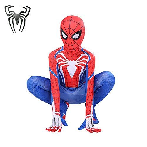 Traje De Spiderman Traje De Juego De Roles De Superhéroe Niños Spandex Disfraz De Halloween Para Adultos,Child-110