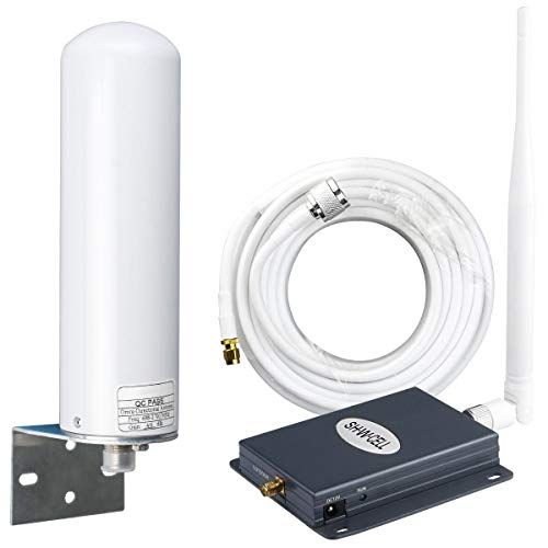 AT&T T-Mobile Cell Phone Signal Booster 4G LTE FDD Band12/17 Cell Phone Signal Amplifier ATT Signal Booster Repeater Mobile Signal Booster SHWCELL Whip/Omni Antennas Kit