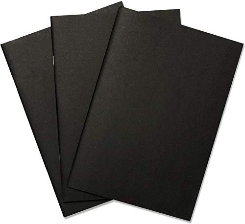 KAHEIGN 3 Piezas Tapa Blanda Cuadernos De Dibujo, A4 Cuaderno De Bocetos En Blanco 165 GSM 60 Hojas Cartucho De Papel Bloc De Dibujo Inicial Para Pintura De Notas (Negro, 20 Hojas Cada Libro)
