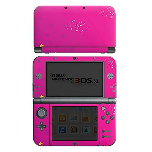 DeinDesign Skin kompatibel mit Nintendo New 3DS XL Folie Sticker Sterne pink Glitzer Look
