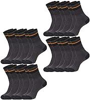 Black+Decker Essential Work Crew Lot de 12 paires de chaussettes de travail unisexes en coton mélangé Noir/gris Taille 47-49