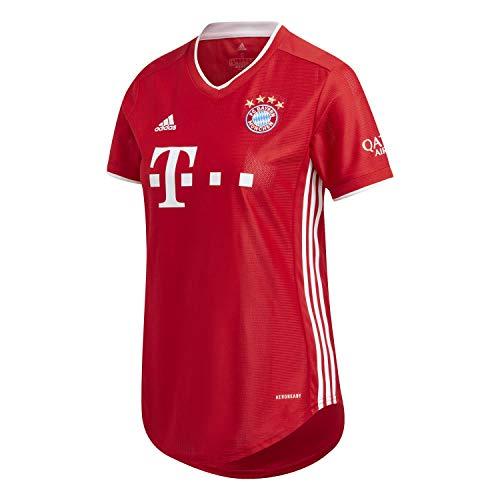 adidas FC Bayern Munchen Temporada 2020/21 FCB H JSY W Camiseta Primera equipación, Mujer, Rojo, L