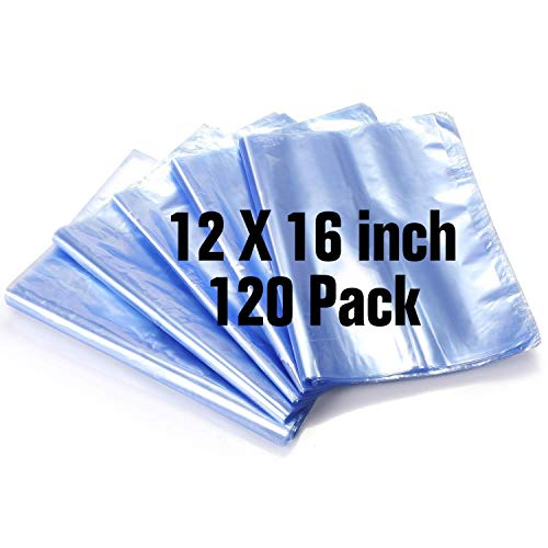 100 PCS Heat Shrink Wrap Bags 9x14 Inch 100 Gauge for Wrapping Bath Bombs