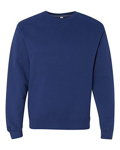 Fruit of the Loom Men's Fleece Crew Sweatshirt, Admiral Blue, XXX-Large