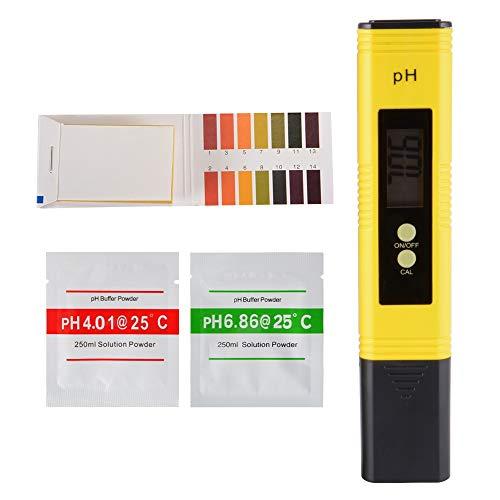 Medidor de pH digital Medidor de calidad del agua con ATC y 0-14 PH Medición de rango de medición Papel de prueba for el hogar Bebidas, piscinas y acuarios TH926 Home gadget Herramientas para el hogar