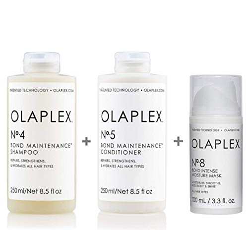 Olaplex Set - Olaplex Bond Maintenance Shampoo No 4 250ml + Olaplex Bond Maintenance Conditioner No 5 250ml + Olaplex Bond Intense Moisture Mask No 8 100ml