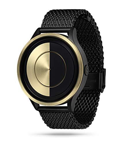 ZIIIRO Lunar Unisex Uhren Gold Stahlband