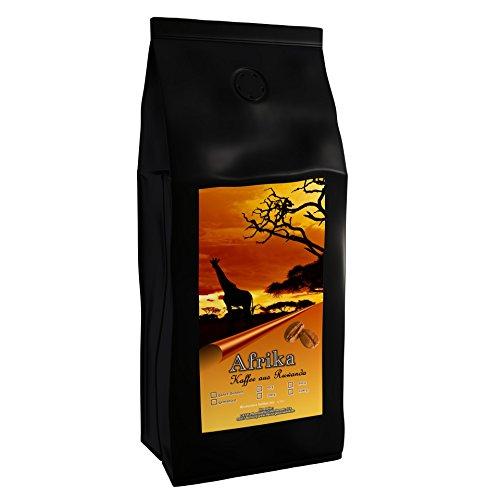 Kaffeespezialität Aus Afrika - Ruanda, Dem Land Der Tausend Hügel - Hochland Kaffee (Ganze Bohne,1000 Gramm) - Länderkaffee - Spitzenkaffee - Säurearm - Schonend Und Frisch Geröstet