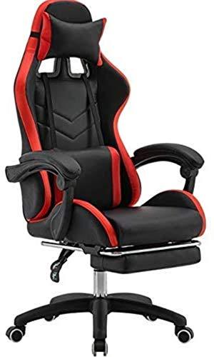Silla de videojuegos, ergonómica silla de oficina sillas de ordenador para el hogar de moda cómoda silla de juego silla con reposapiés sillón