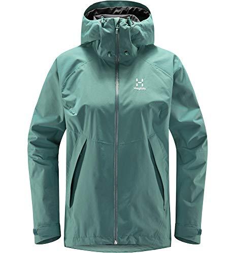 Haglöfs Regenjacke Frauen Esker Jacket wasserdicht, Winddicht, atmungsaktiv Willow Green XS XS