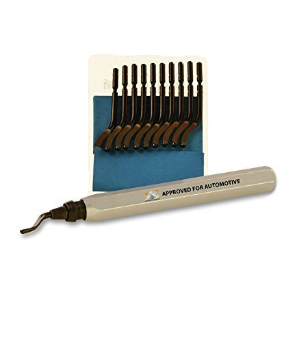 AFA Tooling Deburring Tool with a Blade and Pack of 10 Extra Blades