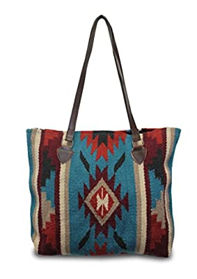 Southwest Boutique Wool Tote Purse Bag Native American Western Style Handwoven (Tucson)