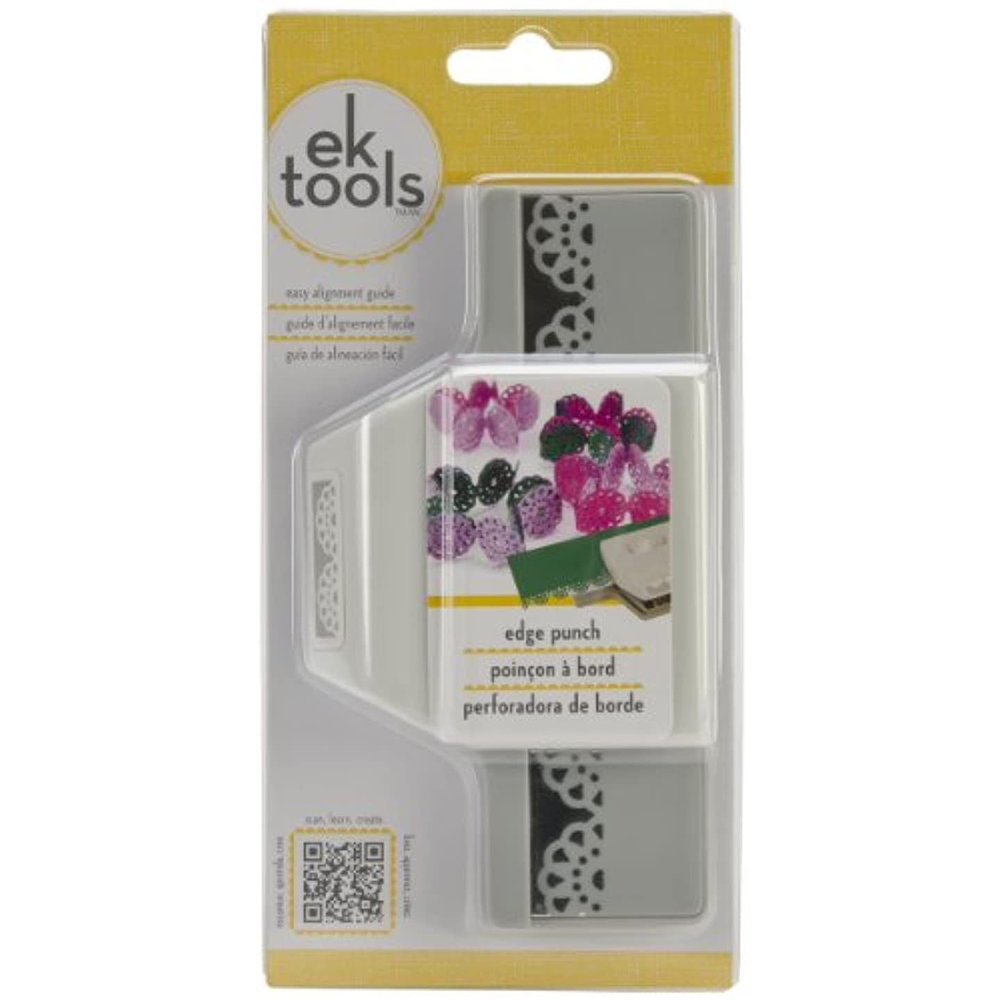 EK Tools Edge Paper Punch, Abstract Flower, New Package