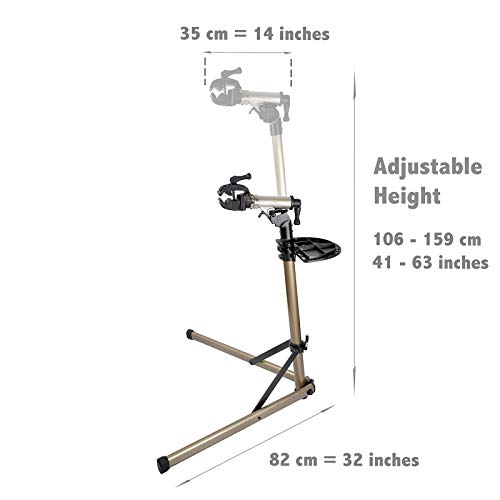 Bikehand Bike Repair Stand - Home Portable Bicycle Mechanics Workstand - Great for EBIKE Mountain Bikes and Road Bikes Maintenance - Heavy Duty Max Bike Weight 50kg (110 lbs)
