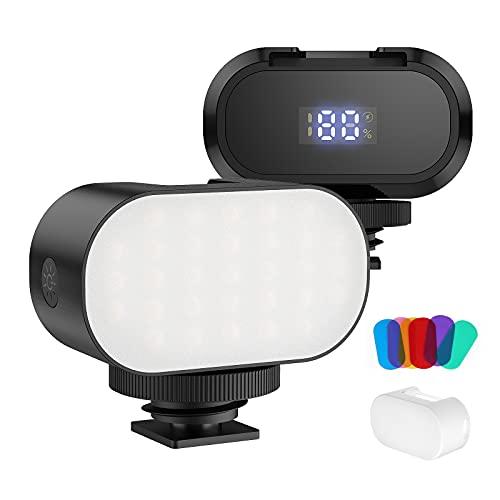 SHOOT VL30 Super Mini LED Video Light Fill Light Dimmerabile 6000K su Camera Light con custodia in silicone per Smartphone, Osmo Pocket, Vlog, Light Photography Set