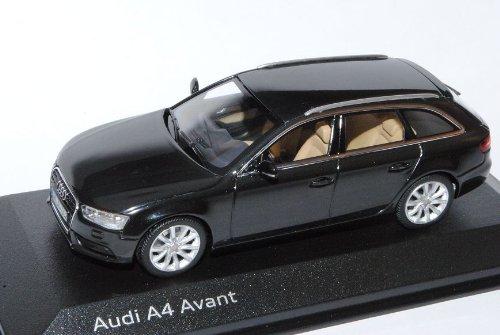 Minichamps A-U-D-I A4 B8 Facelift Ab 2011 Avant Kombi Phantom Schwarz Ab 2007 1/43 Modell Auto mit individiuellem Wunschkennzeichen