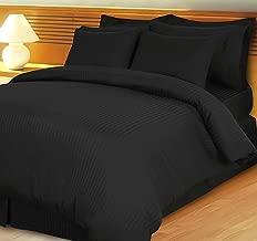 800 Thread Count Three (3) Piece California King Size Stripe Duvet Cover Set, 100% Egyptian Cotton, Premium Hotel Quality California King Black 1