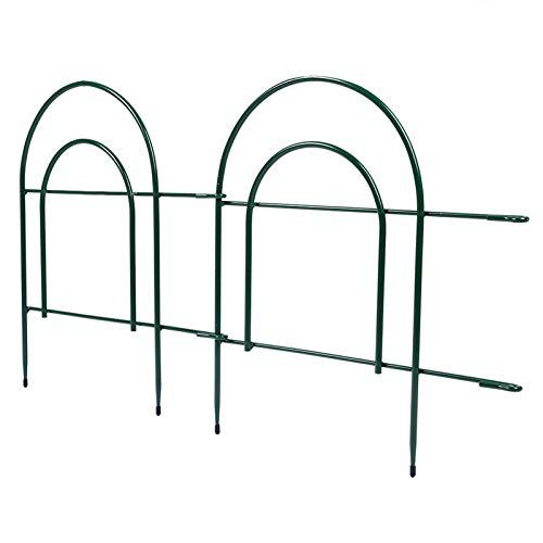 Cerlingwee Gartenumrandung, langlebige dekorative Zaun-Zaunplatten aus Schmiedeeisen für Rasenwege und Landschaftsgärten