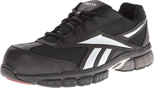 Reebok Work Ketia RB4895 - Zapatos para Hombre, Color Negro y Plateado, Color, Talla 42 2/3 EU