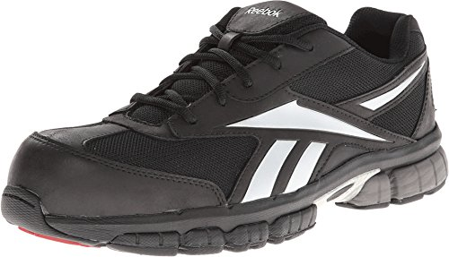 Reebok Work Men's Ketia RB4895 Work Shoe,Black/Silver,9.5 M US