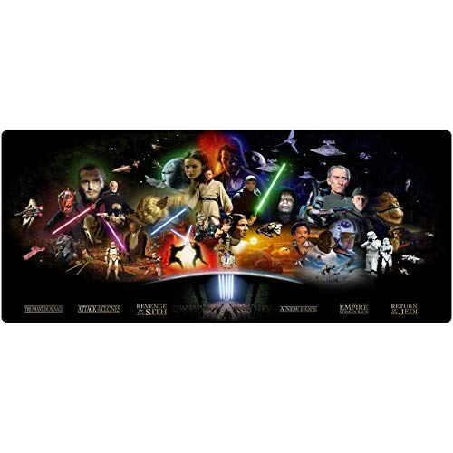 Gaming Mouse Pad XXL Large Mouse Mat Star Wars Keyboard Mat Extended Mousepad for Computer Desktop PC Laptop Mouse Pad (Color : V, Size : 700x300x3mm)