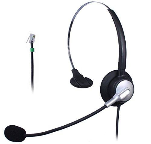 vanstalk Telefon Headset mit Noise Cancelling Mikrofon, Call Center Kopfhörer RJ11Für Aastra 911624656739i Avaya 54201120Mitel 5055Plantronics T50shoretel iP230 Mono VT10SA1