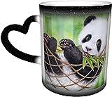 Kit taza de café taza de cerámica,Animal Artístico Bebé Animal Hamaca Pa Personalizó Cerámica Calor Caliente