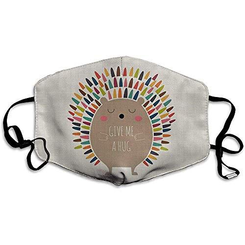 Verstelbare Mond Maskers Anti-Stof Knuffel Egel Winddicht Gezichtsmasker Mode Cover Filters Allergens
