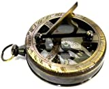 Nautical Antique Gilbert Pocket Sundial Compass Vintage Outdoor Pocket Navigation Maritime - Best Gift Idea