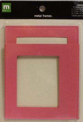 Making Memories: Pink Metal Frames ~ 3 Count ~ Scrapbooking ~ Album Cover ~ Decoration by MAKING MEMORIES