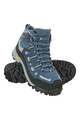 Mountain Warehouse Botas Impermeables Storm para Mujer - Duraderas - Parte Superior de Ante y Malla - Forro de Malla - Plantilla Acolchada - para Senderismo Azul Talla Zapatos Mujer 39 EU
