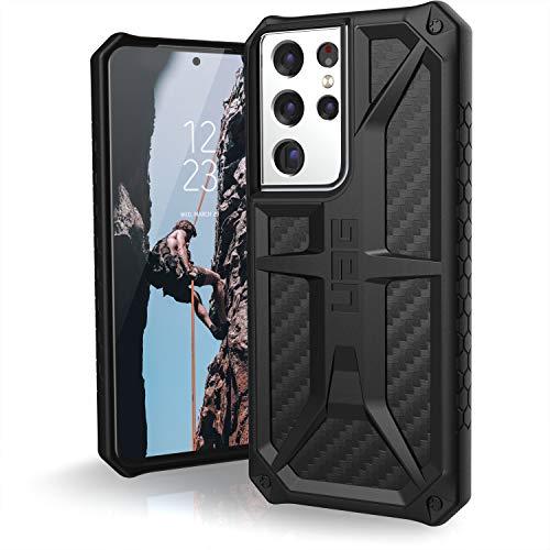 Urban Armor Gear Monarch Copertura Samsung Galaxy S21 Ultra 5G (6,8') Cover (Ricarica senza fili compatibile, Protezione da caduta di grado militare, Resistente alle cadute) - carbonio